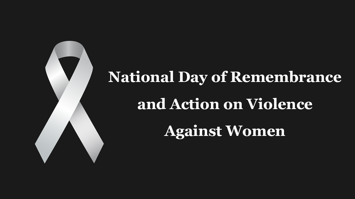 National Day of Remembrance and Action on Violence Against Women 2020 in Canada