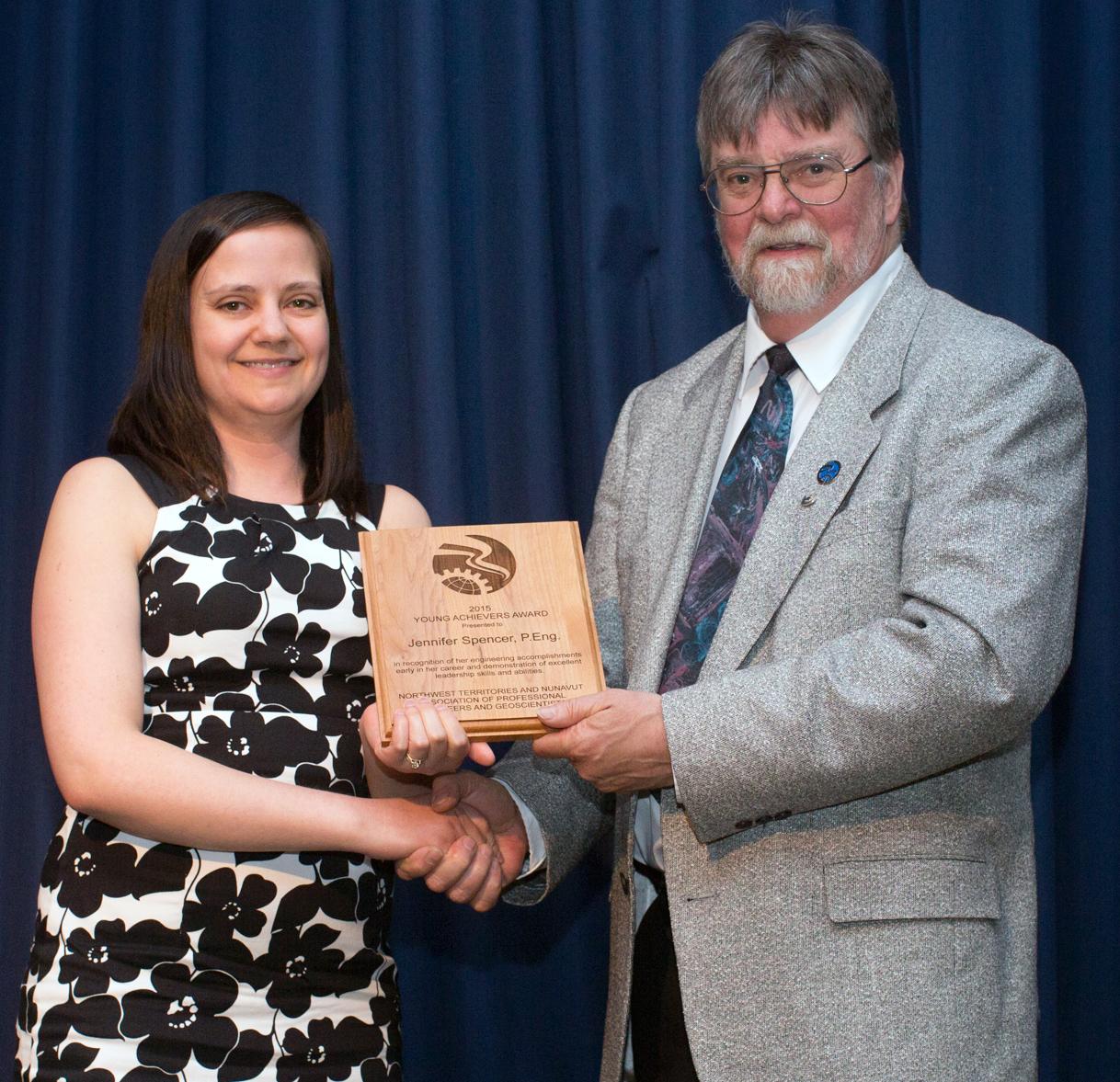 Jennifer Spencer NAPEG award