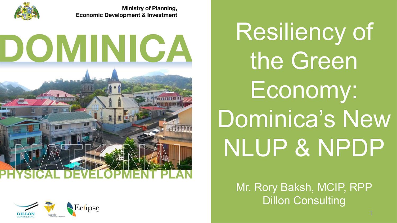 2017-05-16 CUF Belize Presentation on Dominica NLUP NPDP - V2-1