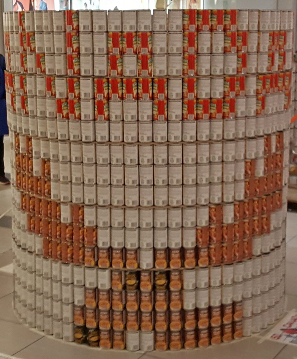 Kitchener Canstruction 2017 Best Use of Labels Award Winner