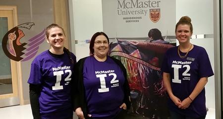 Rebekah Ingram, Heather Swan and Heather Stuart at McMaster University