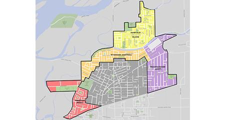 Chilliwack Proper and FFI Neighbourhoods Plan Study Area