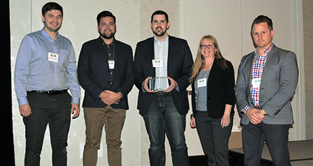 API 2018 Planning Excellence Award (Alex Henderson, Stephen Stone, Colin Simic, Samantha Murphy and Jamie Burke)