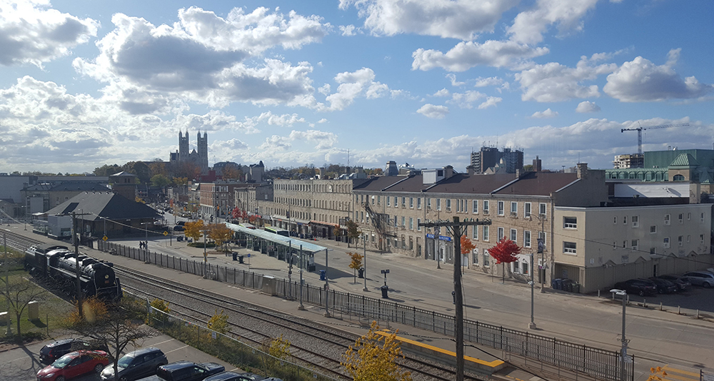 Guelph office view over Guelph GO Station