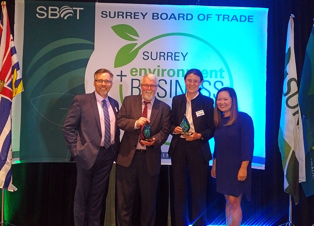 Paul Schaap and Paul Donahue at the Surrey Environment and Business Awards 2017