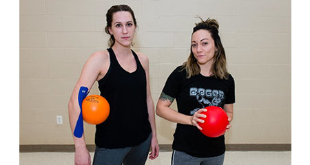 Lauren Caldwell and Julie DiCicco (photo by Michael Robinson, The Telegraph Journal)