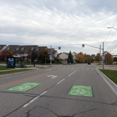 bike lanes at intersection