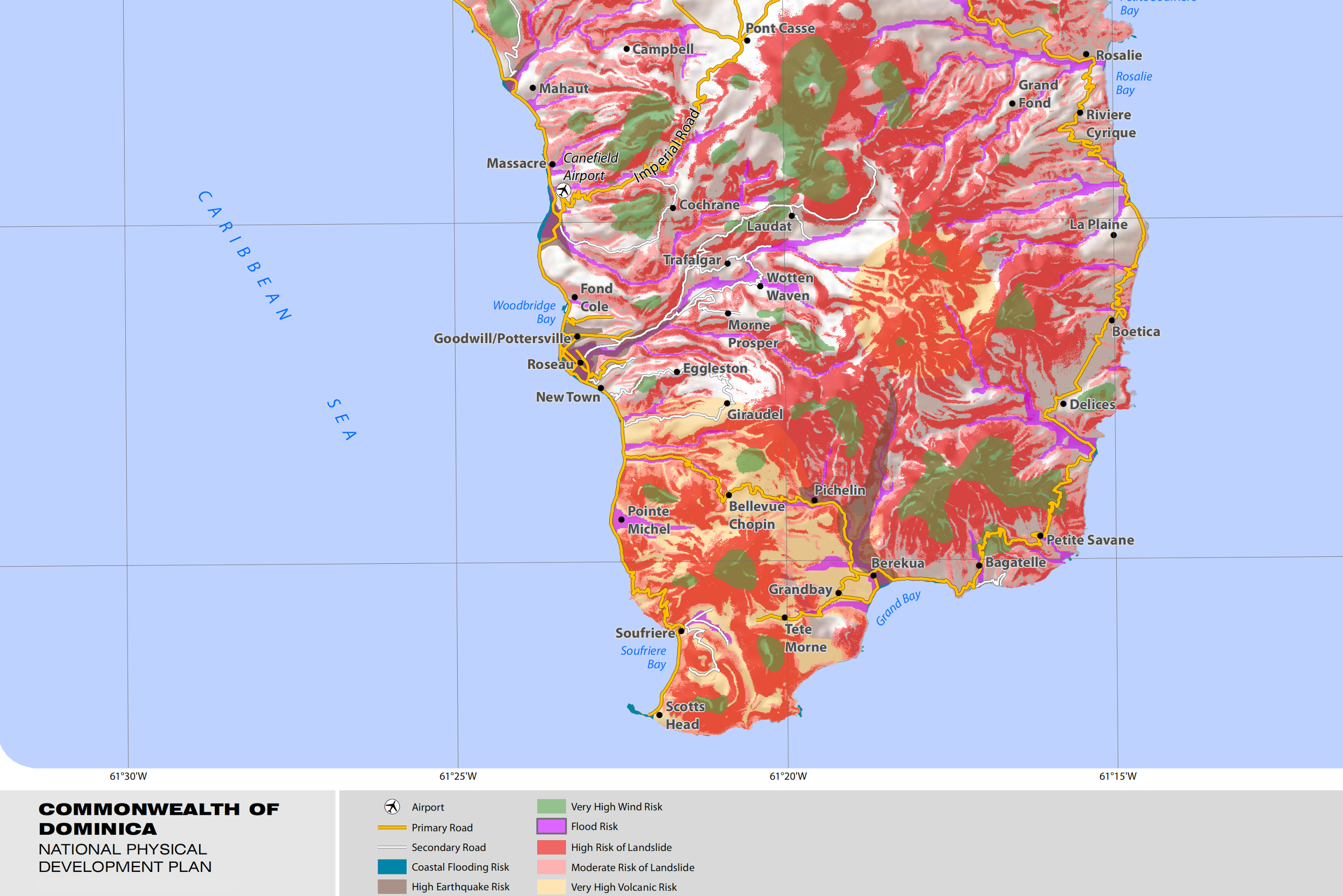 Project Details - Physical map of dominica