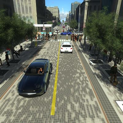 Dundas Place Rendering, Talbot Street to Richmond Street (looking towards Dundas Street & Richmond Street Intersection)
