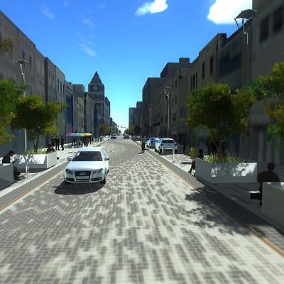 Dundas Place Rendering, Clarence Street to Richmond Street (looking towards Richmond Street)
