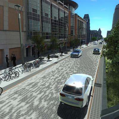 Dundas Place Rendering, Wellington Street to Clarence Street (looking towards the library)