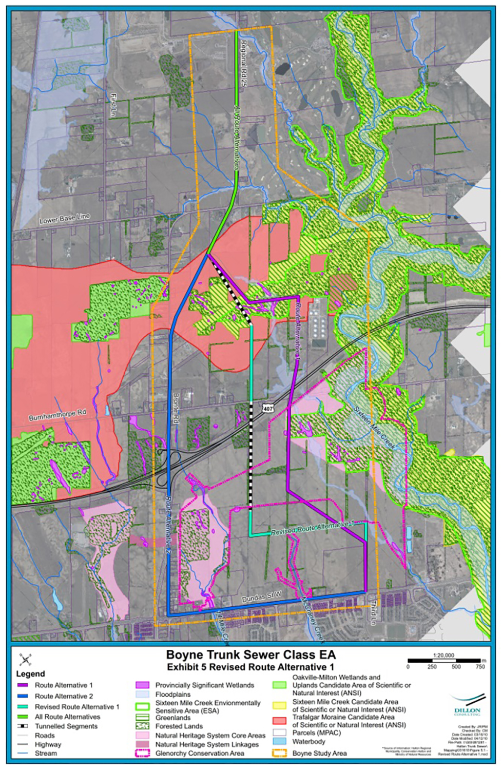 Boyne Trunk Sewer Preferred Alignment