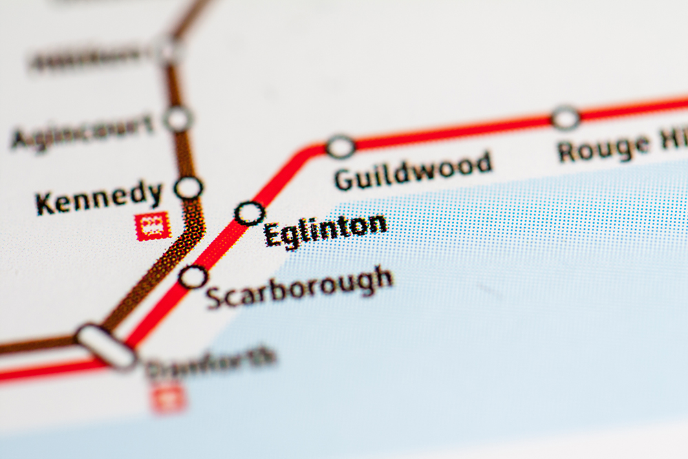Eglinton East Map