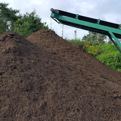 Composting processing into pile