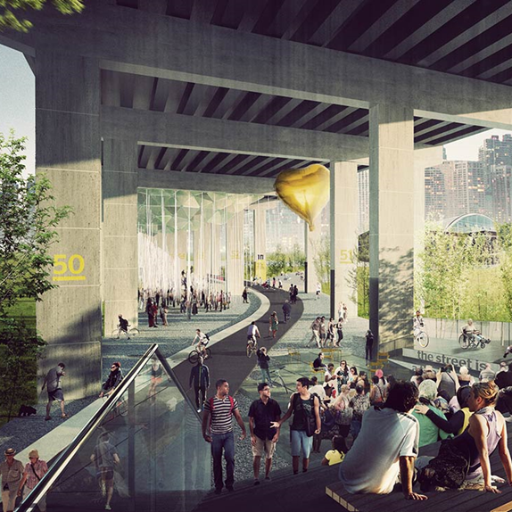 Under the Gardiner Square Rendering