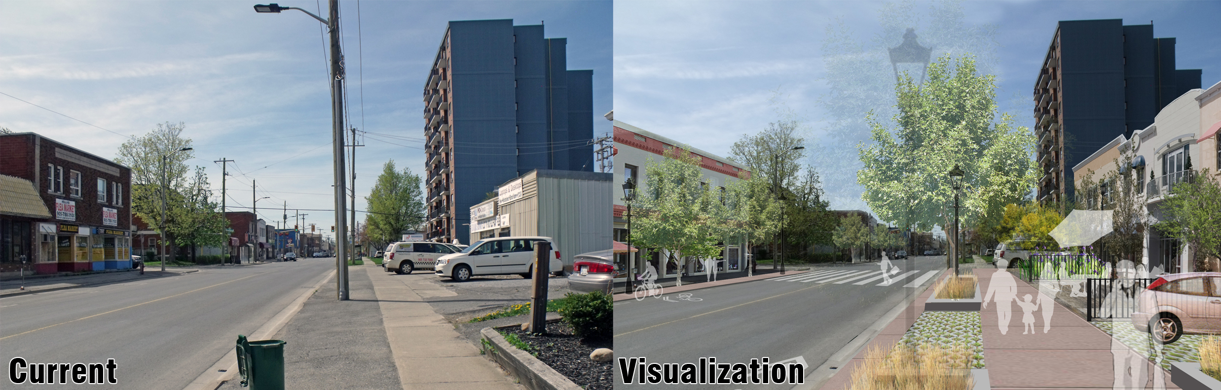 King Street current and visualized comparison