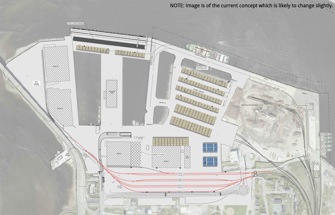 illustration of the planned changes to be made to the west side terminal