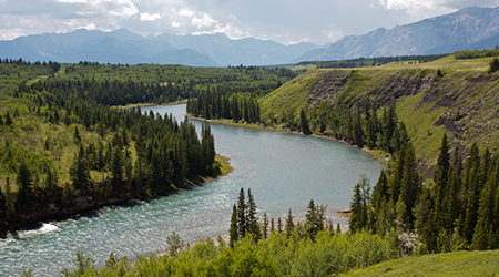 Bow River Valley and the Canadian Rockies